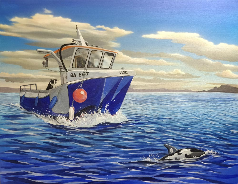 Craig's Boat by Angus Grant Art