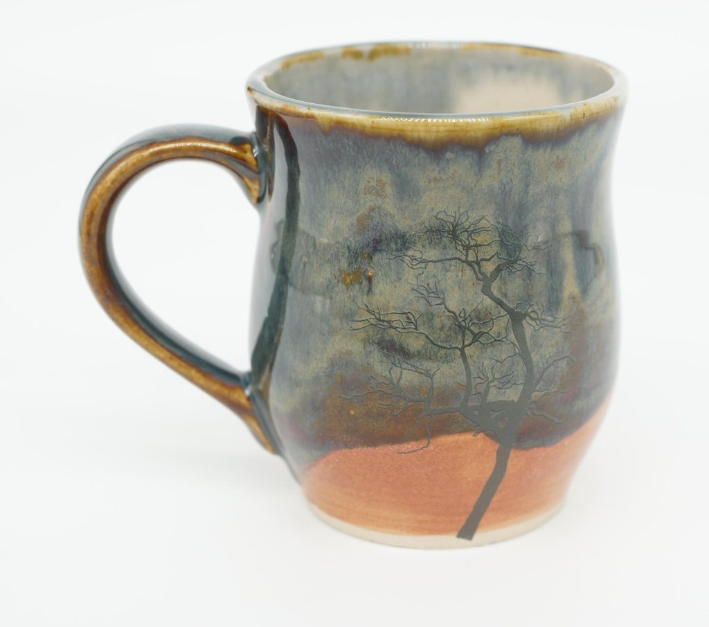 Slip cast mugs by Angus Grant Art