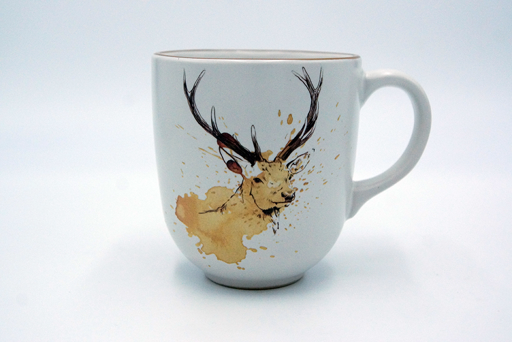 ArTea Deer Mug by Angus Grant Art
