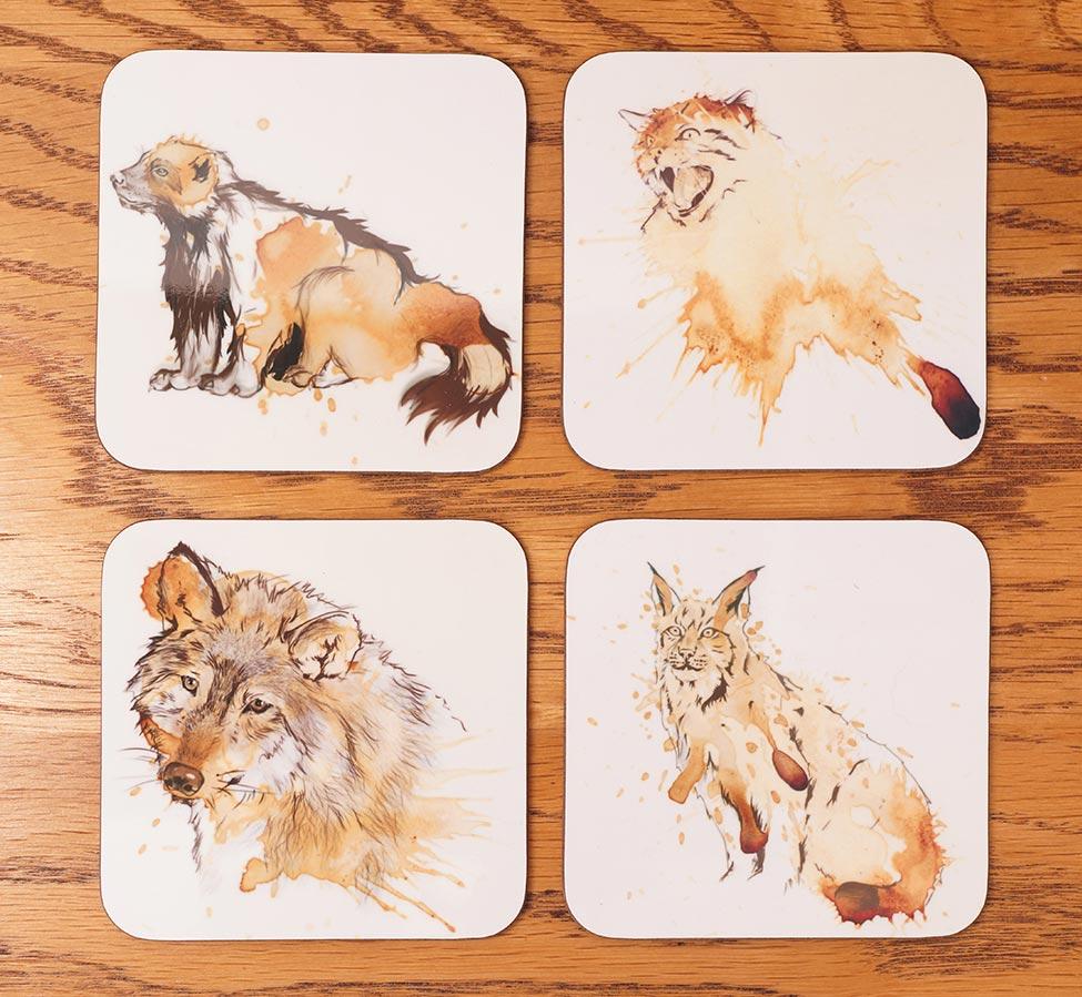 ArTea Wildlife Coasters by Angus Grant Art
